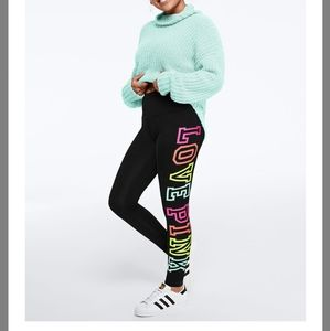 💞 vs Pink rainbow logo yoga leggings large 💞